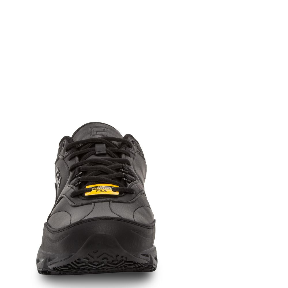 Fila Men's Memory Workshift Slip Resistant Athletic Shoes Steel Toe BLACK Size 8.5(M)