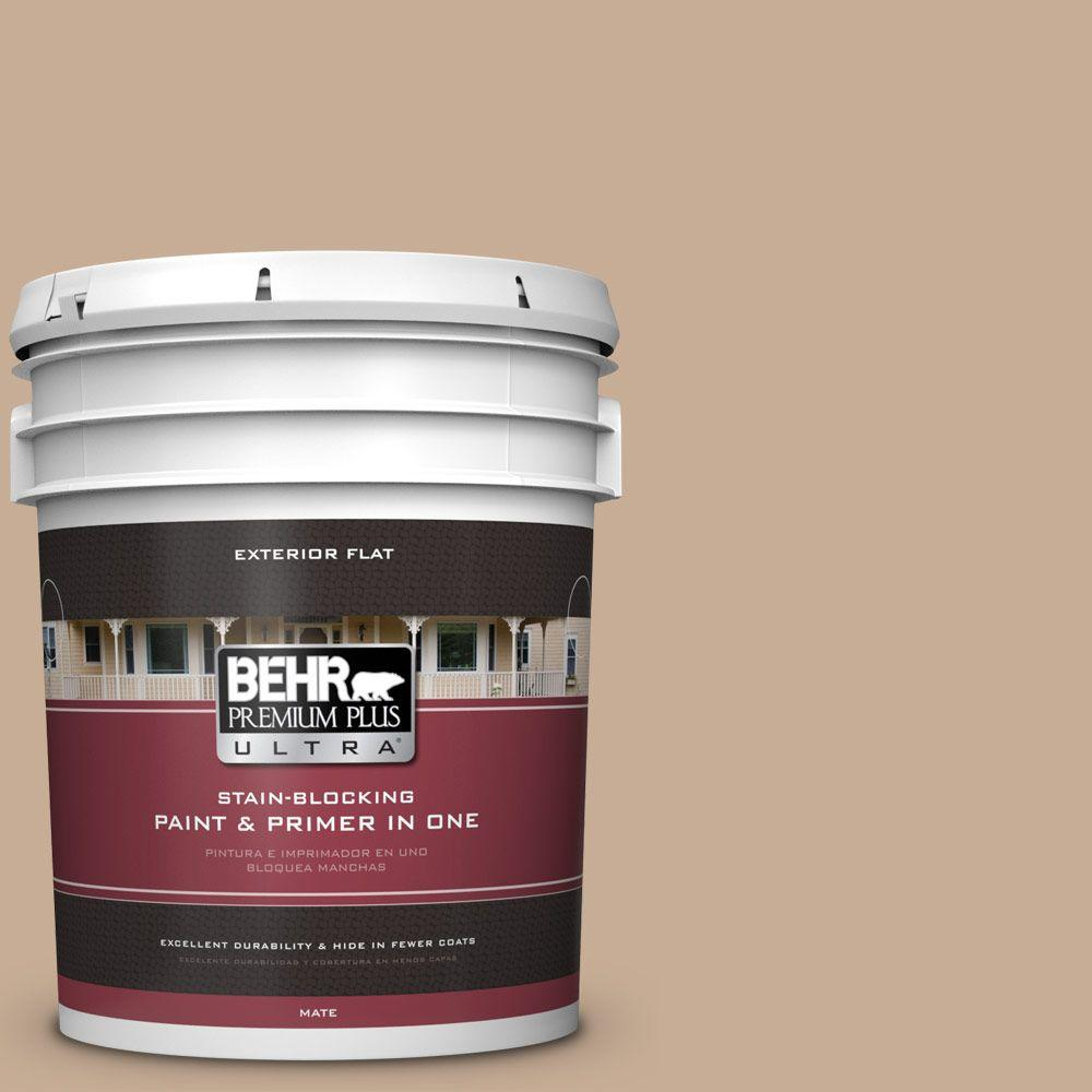 5-gal. #280E-3 Toasted Wheat Flat Exterior Paint