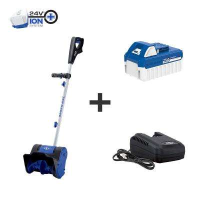 10 in. 24-Volt Cordless Snow Shovel Kit with 4.0 Ah Battery + Charger