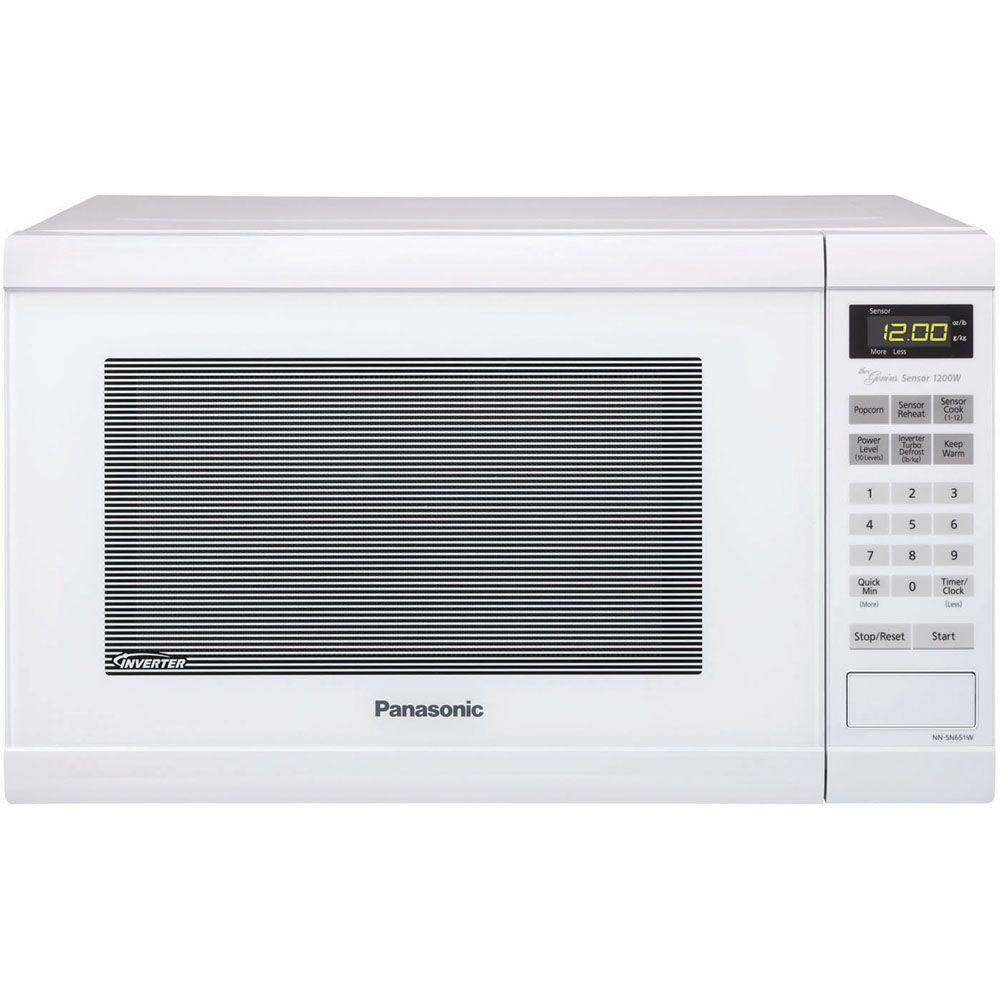Panasonic Family Size 1.2 cu. ft. 1200-Watt Countertop Microwave in White by Panasonic