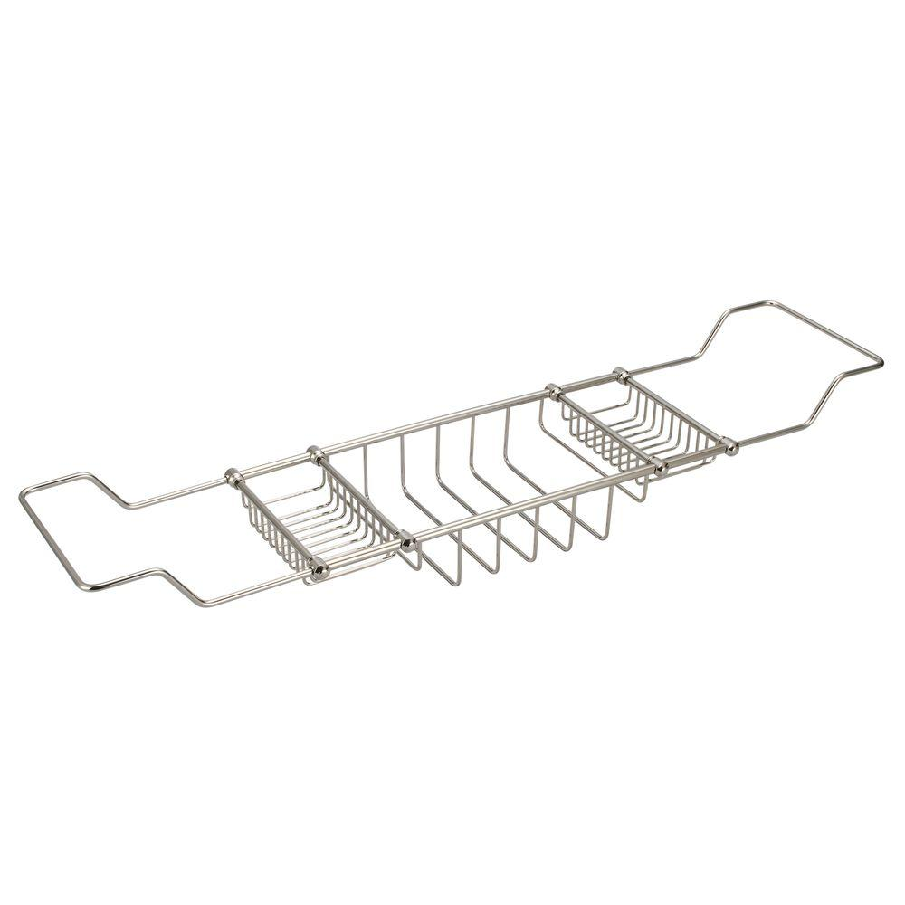 Water Creation Expandable Shower Caddy in Polished Nickel PVD