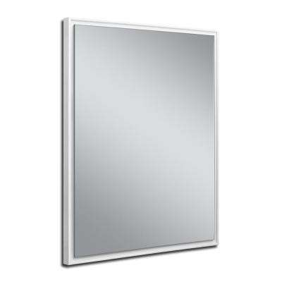 24 in. W x 30 in. H White Studio Float Wall Mirror