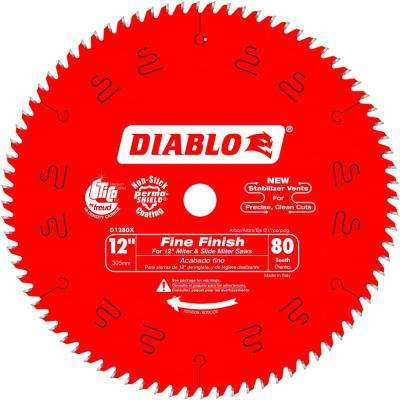 12 in. x 80-Teeth Finishing Saw Blade