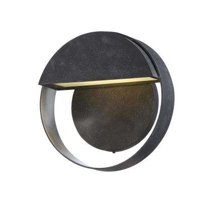Espirit Del Sol Small 1-Light Gilded Iron with Silver Highlights LED Outdoor Sconce