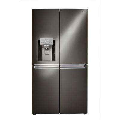 22.7 cu. ft. French Door Refrigerator in Black Stainless Steel, Counter Depth, ENERGY STAR