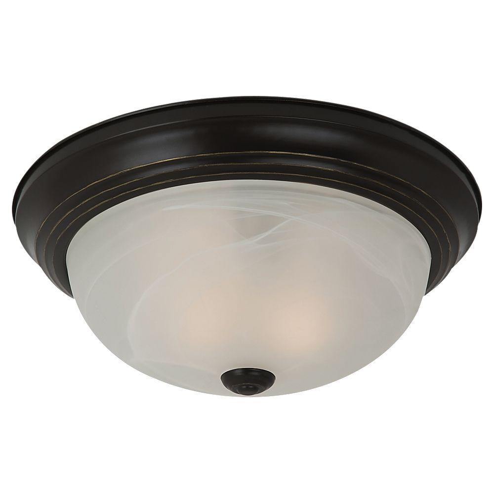Windgate 2-Light Heirloom Bronze Flushmount
