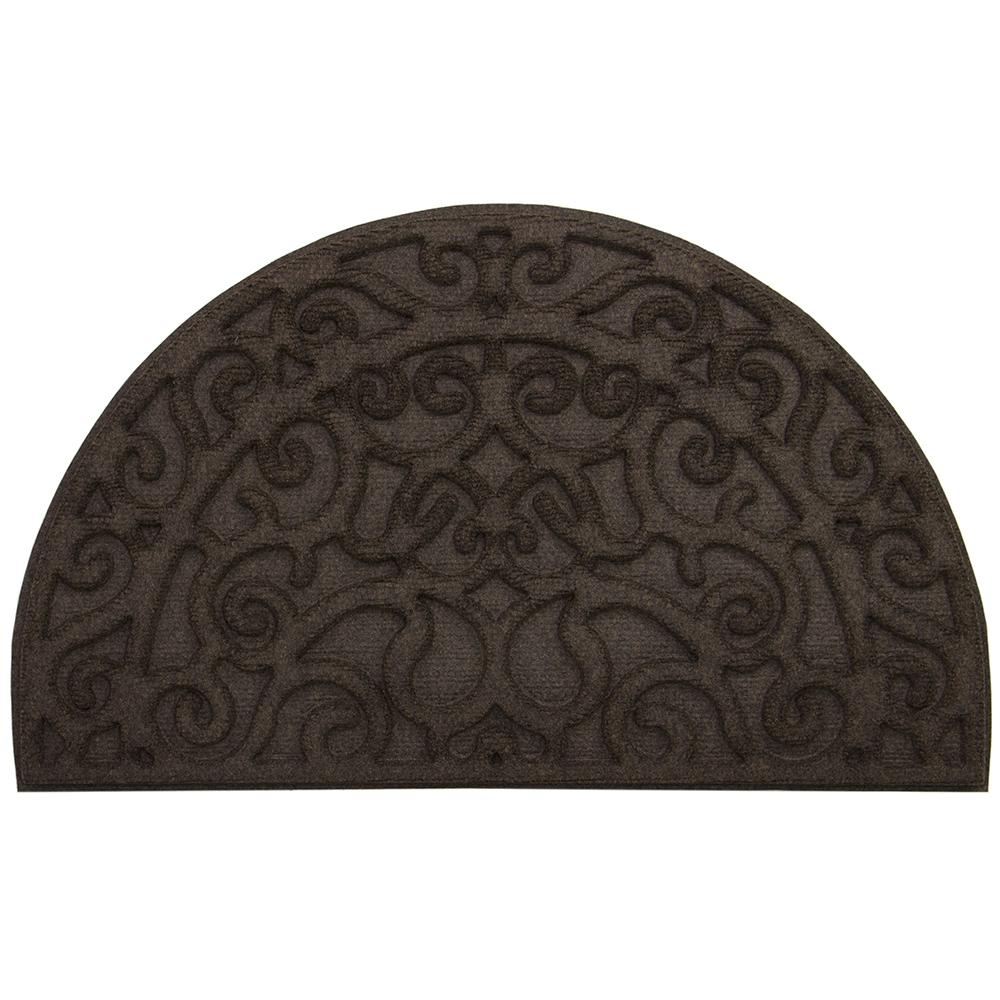 Monique Iron Mocha 18 in. x 30 in. Door Mat