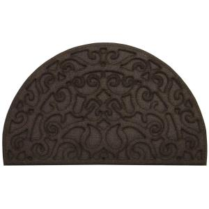 Apache Mills Monique Iron Mocha 18 inch x 30 inch Door Mat by Apache Mills