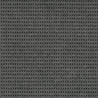 First Impressions Tattersall Smoke w/ Blk 24 in. x 24 in. Commercial Peel and Stick Carpet Tile (15-tile / case)