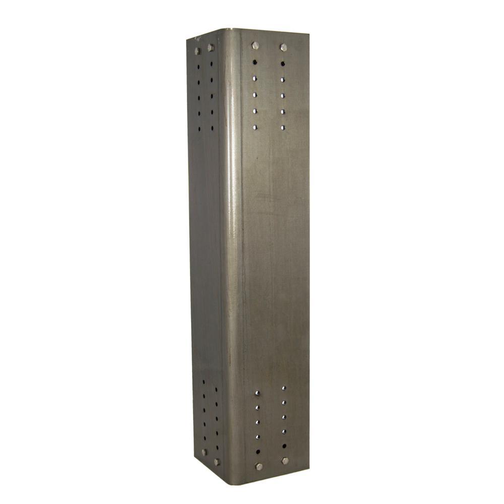 Atherton 29 in. Steel Clear Coat Steel Desk Leg (Set of 4)