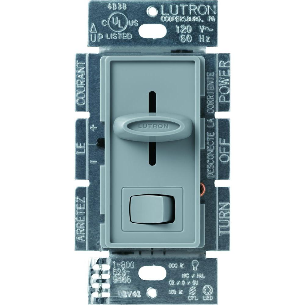 Lutron Skylark 150-Watt Single-Pole/3-Way CFL-LED Dimmer - Gray