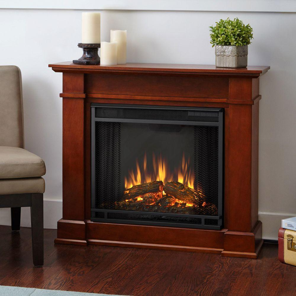 The Devin Fireplace features sleek transitional styling with a compact profile and a clean silhouette