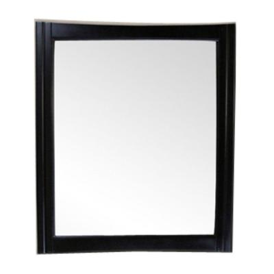 Hawthorne 32 in. x 38 in. Framed Wall Mirror in Dark Mahogany
