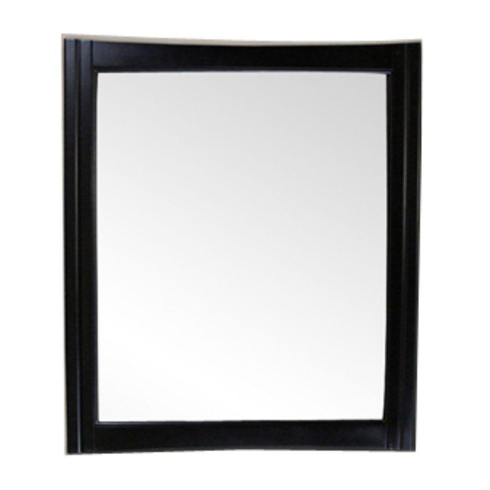 Hawthorne 32 in. x 38 in. Framed Wall Mirror in Dark Mahogany