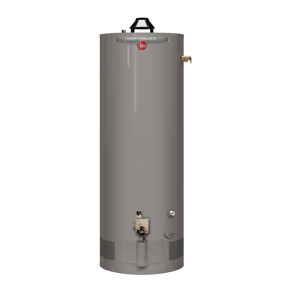 Rheem performance 40 gal tall 6 year 34 000 btu Natural gas water heater