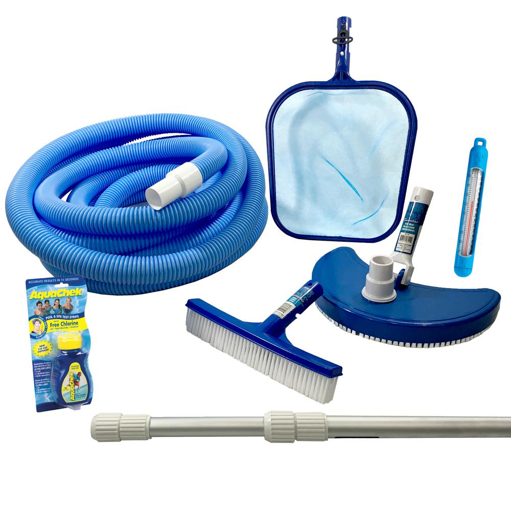 Blue wave standard maintenance kit for above ground pools for Swimming pool accessories