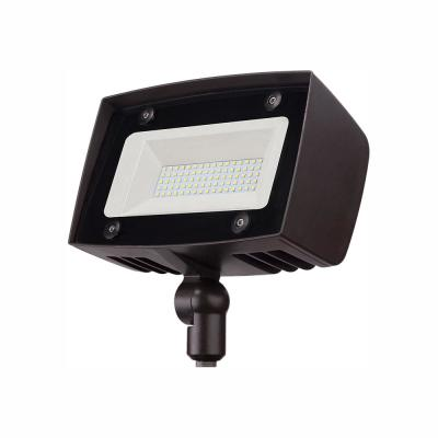 High-Output 350-Watt Equivalent Integrated Outdoor LED Flood Light, 5000 Lumens, Dusk to Dawn Outdoor Security Light