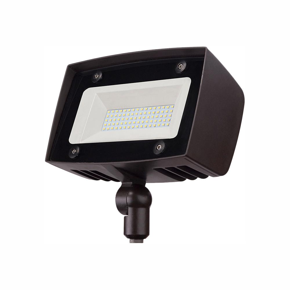 PROBRITE Dark Bronze Outdoor Integrated LED Architectural Security Flood Light