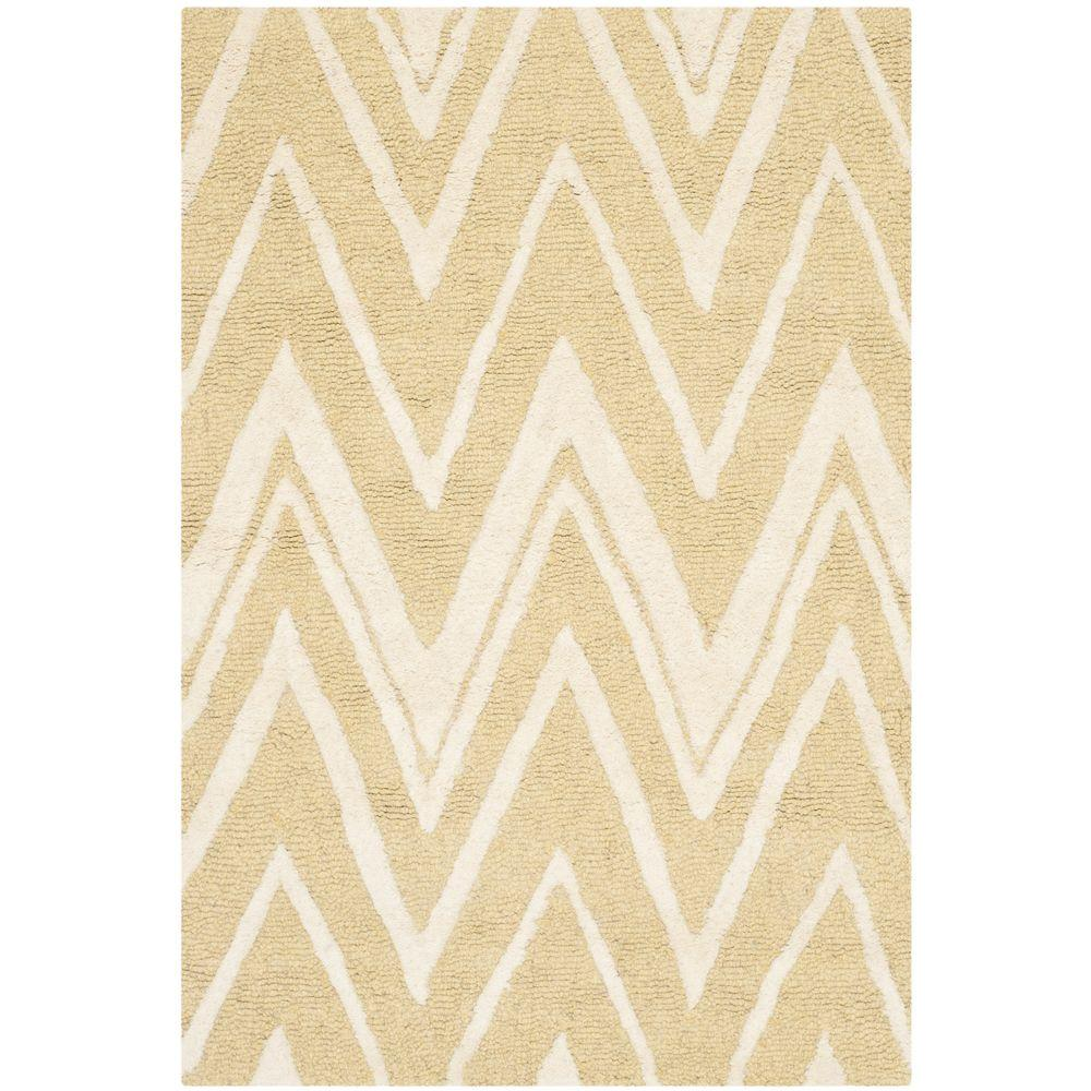 Cambridge Light Gold/Ivory 3 ft. x 5 ft. Area Rug