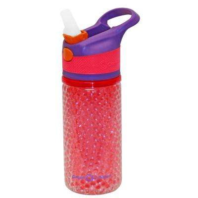 12 oz. Purple and Pink Double Wall Plastic Tritan Hydration Bottle with Beaded Freeze Gel (6-Pack)