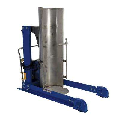 48 in. 750 lb. Capacity Portable Hydraulic Drum Dumpers with Stainless Steel Chute