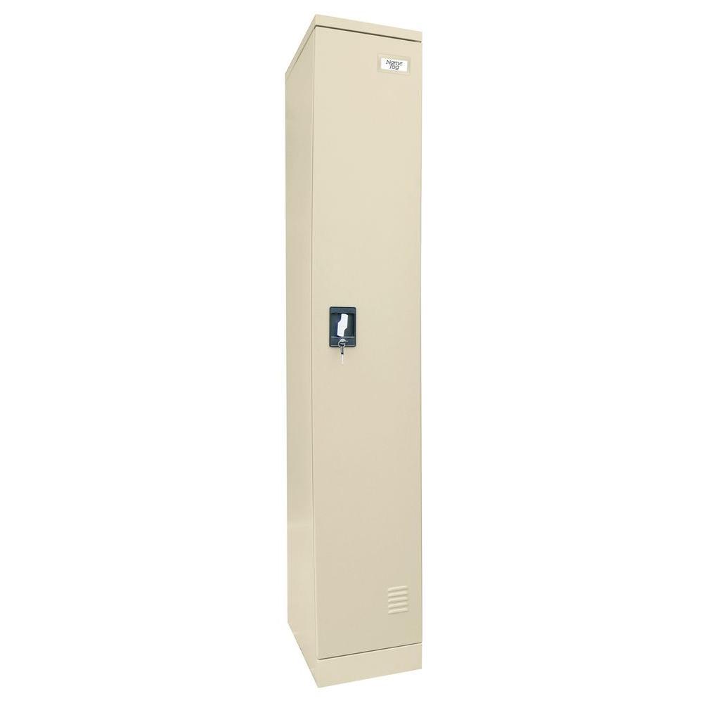 Sandusky 72 in. H x 12 in. W x 18 in. D Single Tier Locker in Putty