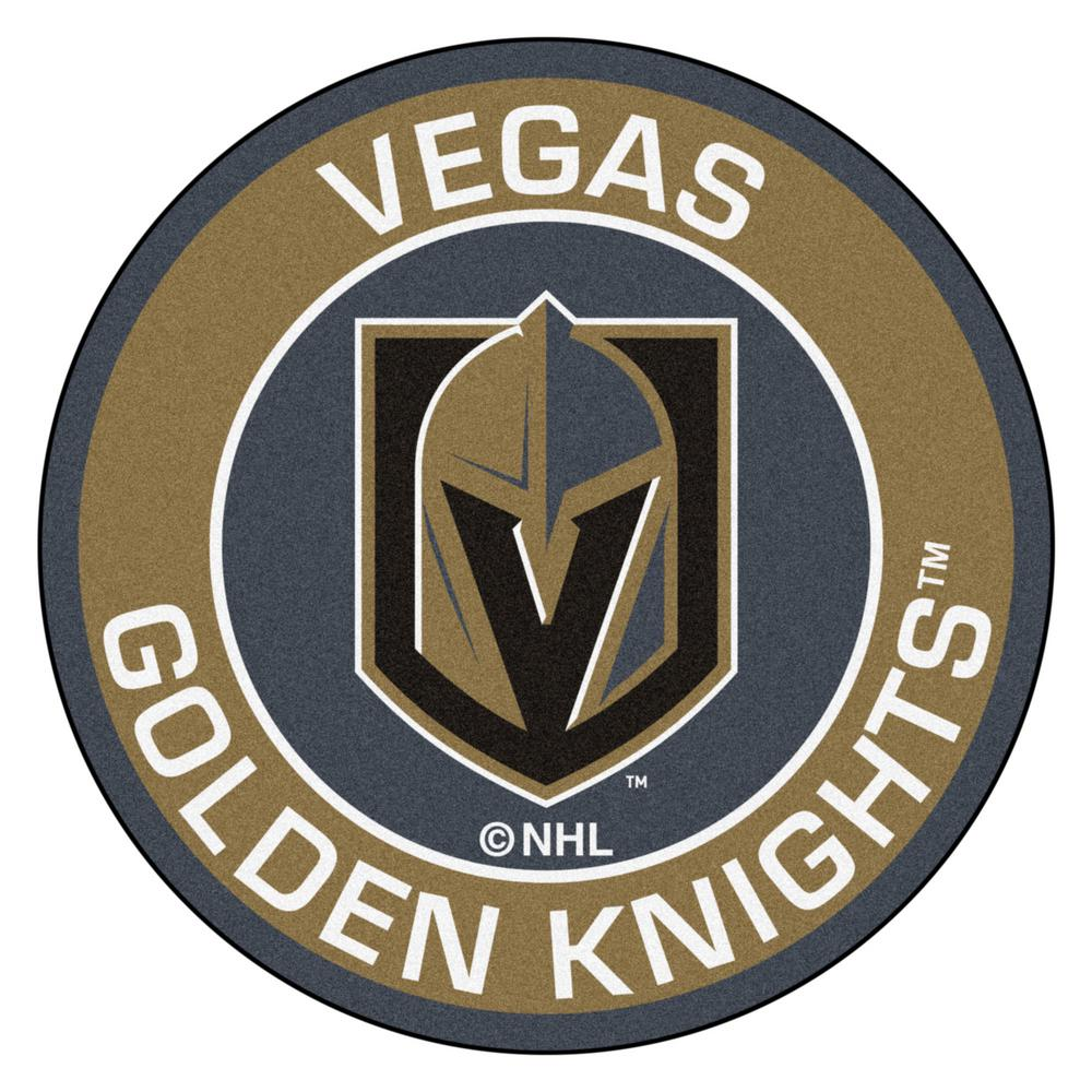 Fanmats Nhl Vegas Golden Knights 27 In Roundel Mat Area
