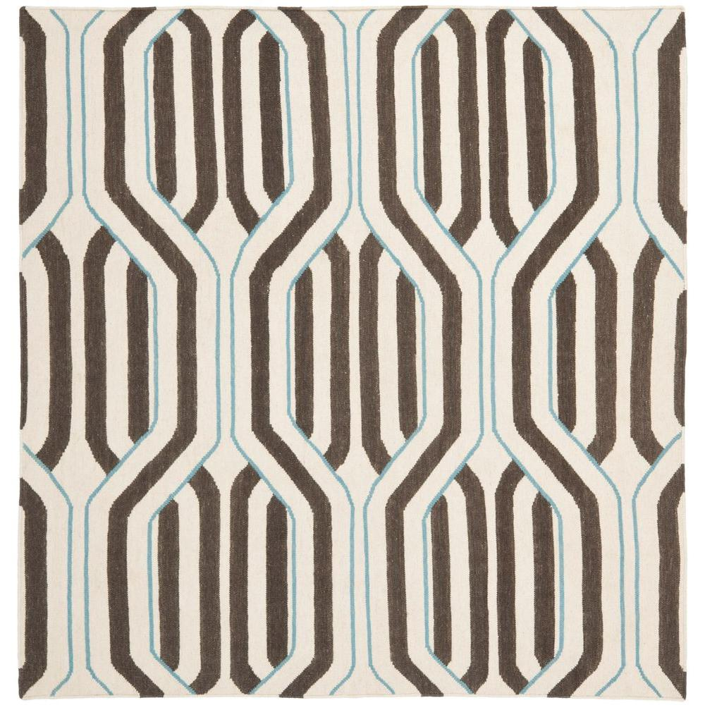 Dhurries Ivory/Multi 6 ft. x 6 ft. Square Area Rug