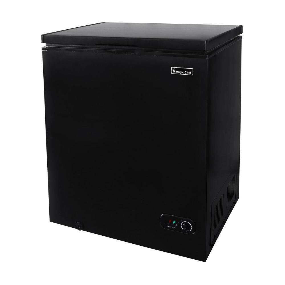 Magic Chef 5.0 cu. ft. Chest Freezer in Black