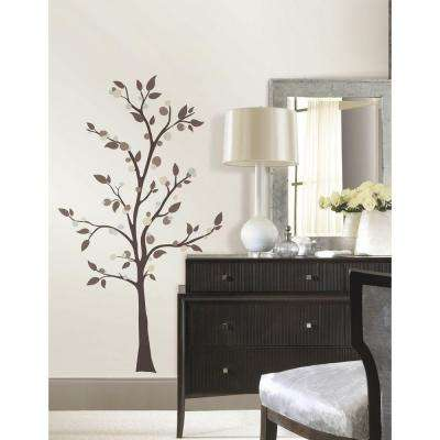 5 in. x 19 in. Mod Tree Peel and Stick Giant Wall Decals