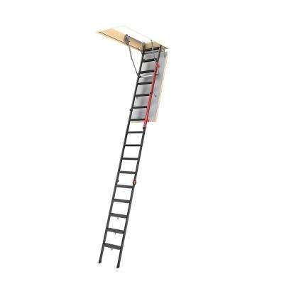LMP 12 ft., 22.5 in. x 56.5 in. Insulated Steel Attic Ladder with 350 lbs. Maximum Load Capacity