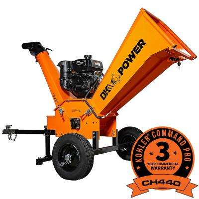 6 In 14 Hp Gas Ed Kohler Engine Chipper Shredder With Dot Road Legal Tires Extended Axles And Trailer Tow Hitch