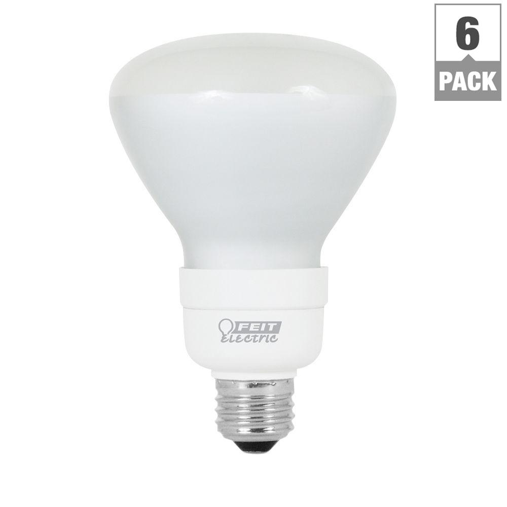 Feit Electric 65-Watt Equivalent Soft White (2700K) BR30 CFL Flood Light Bulb (6-Pack)