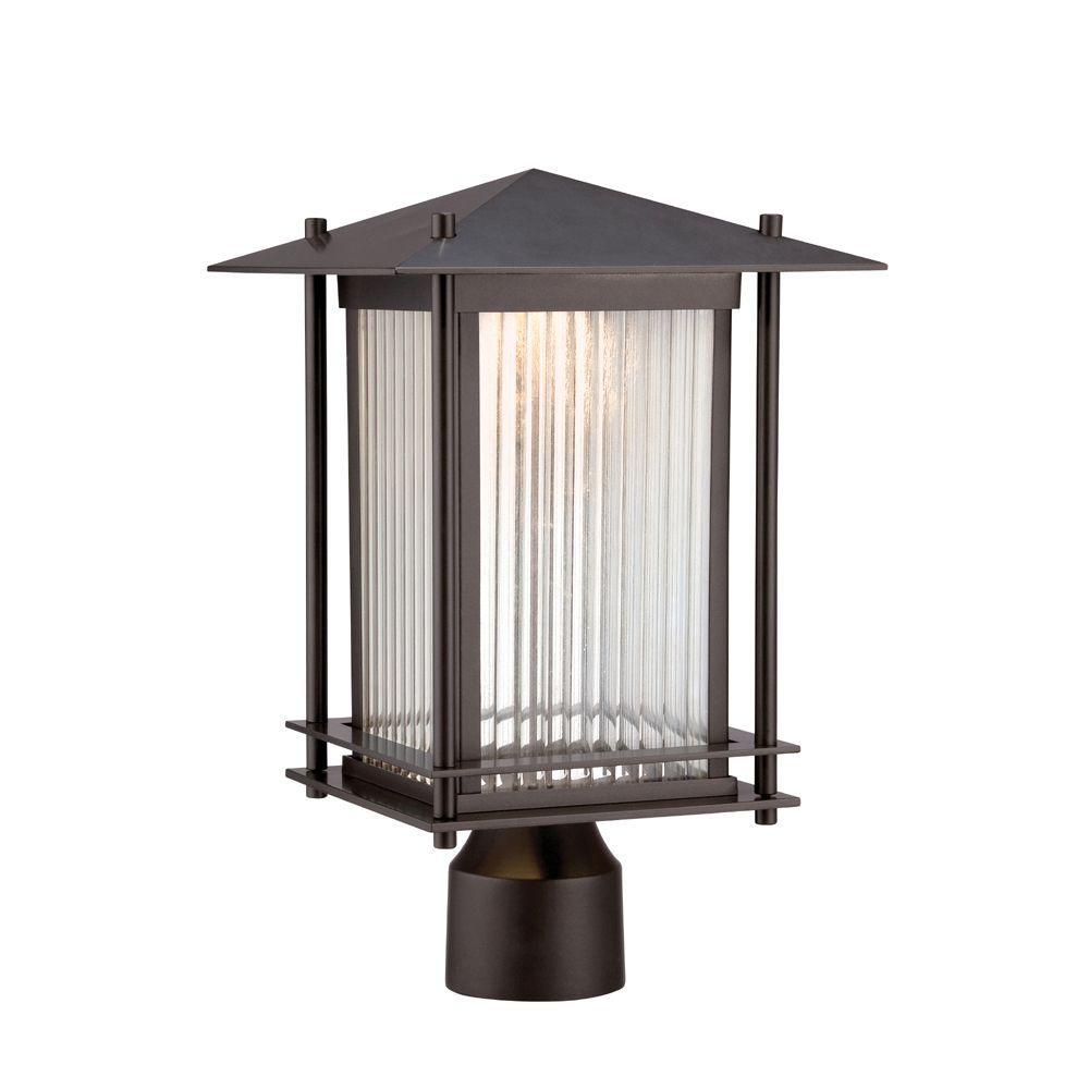 Hadley Burnished Bronze Outdoor LED Post Lantern