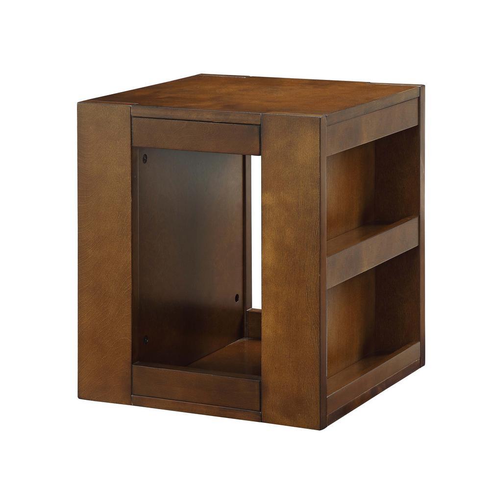 ACME Furniture Pisanio Espresso Swivel End Table 84522