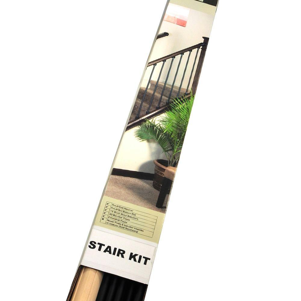 Stair Simple Axxys 8 Ft Level Rail Kit Axhlr8b32i The