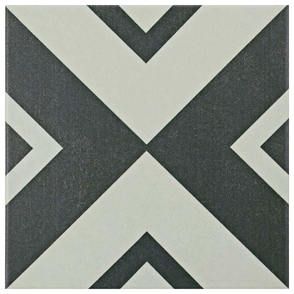 Merola Tile Twenties Vertex 7-3/4 in. x 7-3/4 in. Ceramic Floor and Wall Tile
