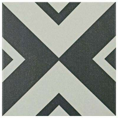 Twenties Vertex 7-3/4 in. x 7-3/4 in. Ceramic Floor and Wall Tile