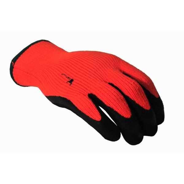 Winter Grip X-Large Master Heavy Textured High Visibility Latex Coated Gloves