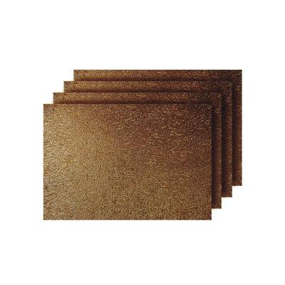 Lacey Bronze Metallic Scribble Design Rectangle Placemats (Set of 4)