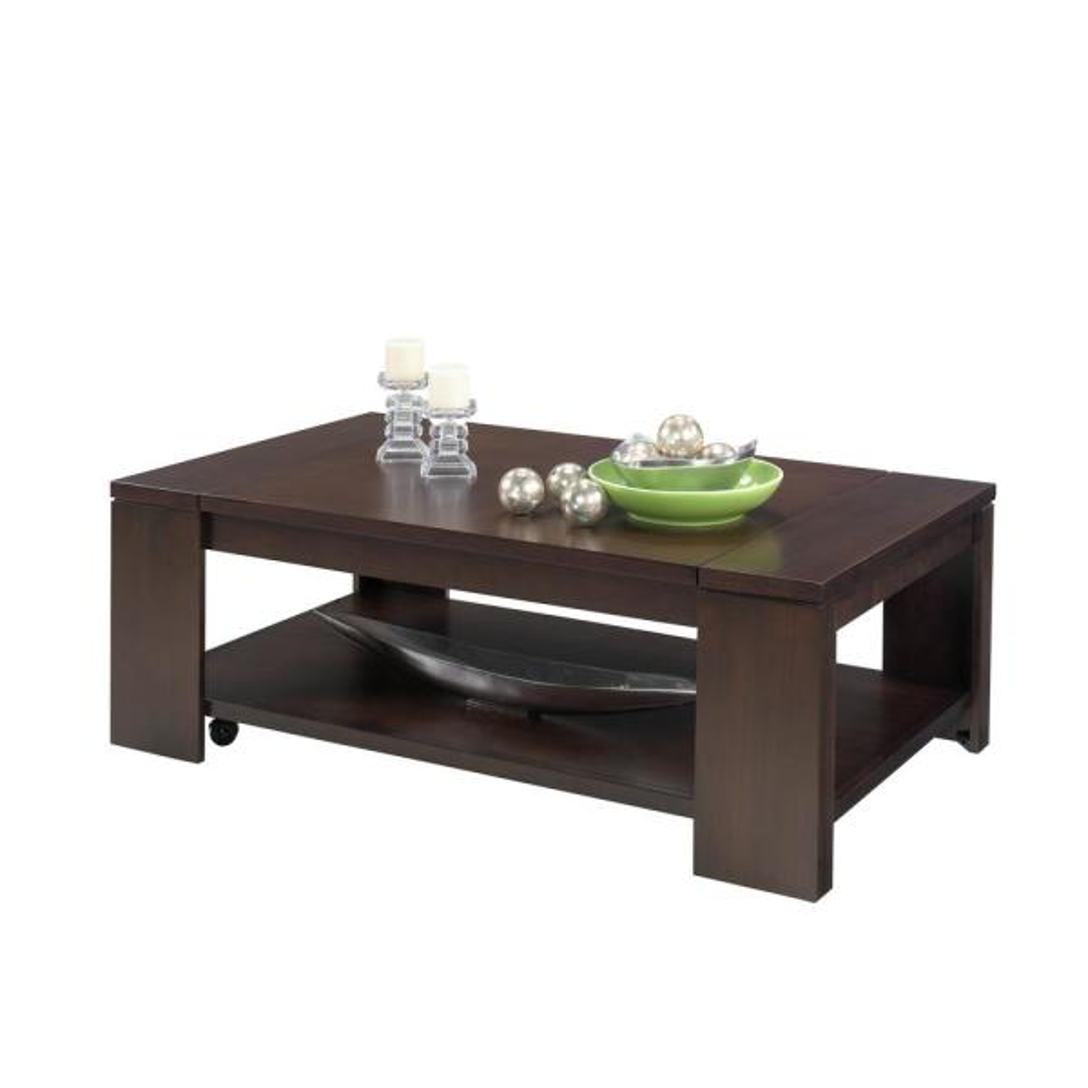 Progressive Furniture Waverly Vintage Walnut Castered Lift Top
