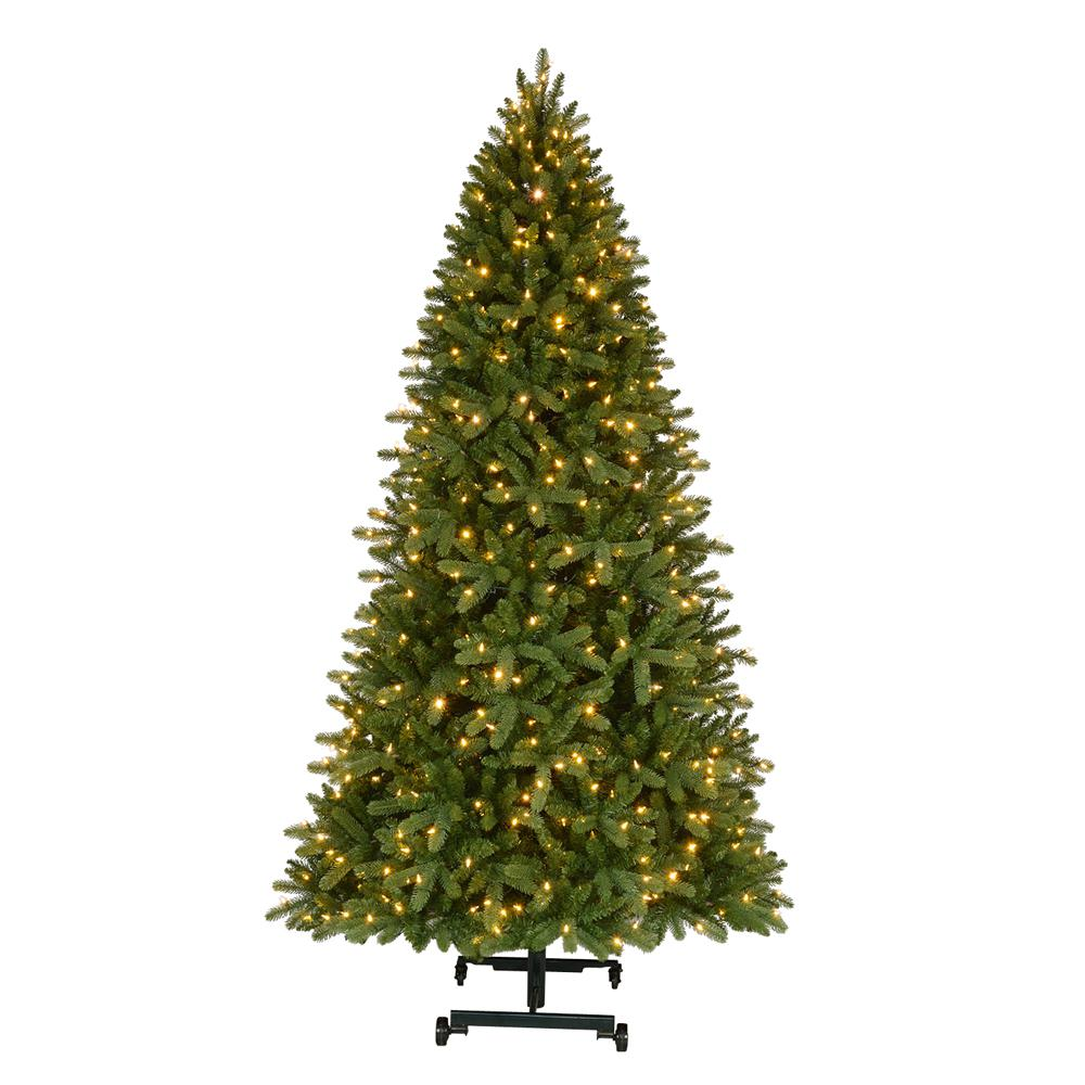 Home Accents Holiday 7 ft. to 9 ft. Pre-Lit LED Virginia Pine Grow ...