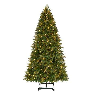 7 ft. to 9 ft. Pre-Lit LED Virginia Pine Grow and Stow Quick Set Artificial Christmas Tree with Color Changing Lights