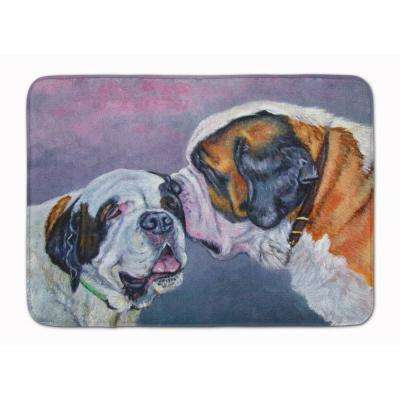 19 in. x 27 in. Saint Bernard Whisperer Machine Washable Memory Foam Mat