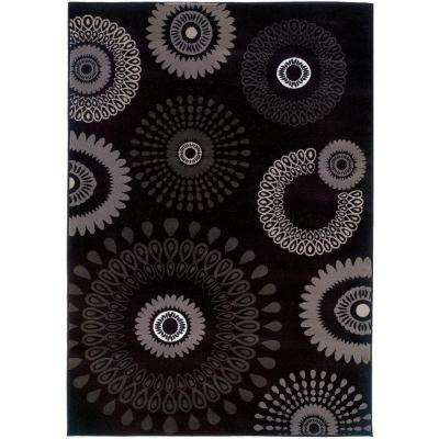 Contemporary Charcoal 8 ft. x 10 ft. Plush Indoor Area Rug