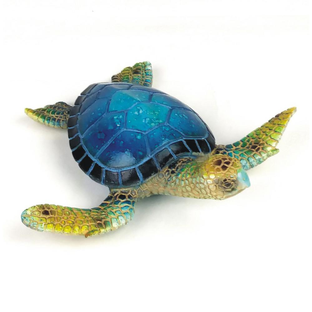 Nautical Garden 6.25 in. Blue Sea Turtle Figurine