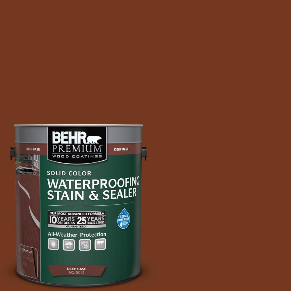 BEHR Premium 1 gal. #SC-116 Woodbridge Solid Color Waterproofing Stain and Sealer
