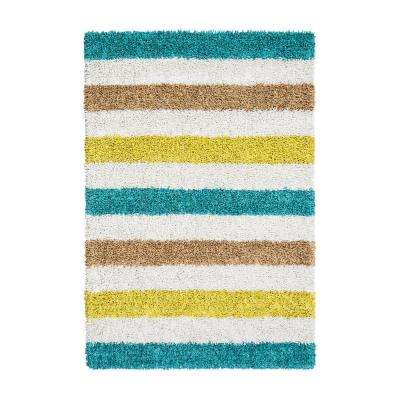 Martinique Teal 8 ft. x 10 ft. Area Rug