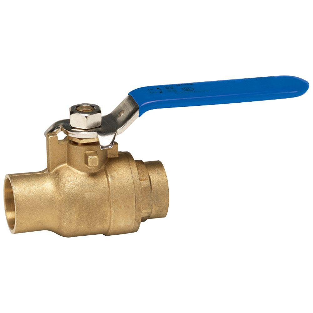 Homewerks Worldwide 1/2 in. Packing Gland Lead Free Brass Sweat x Sweat Full Port Ball Valve