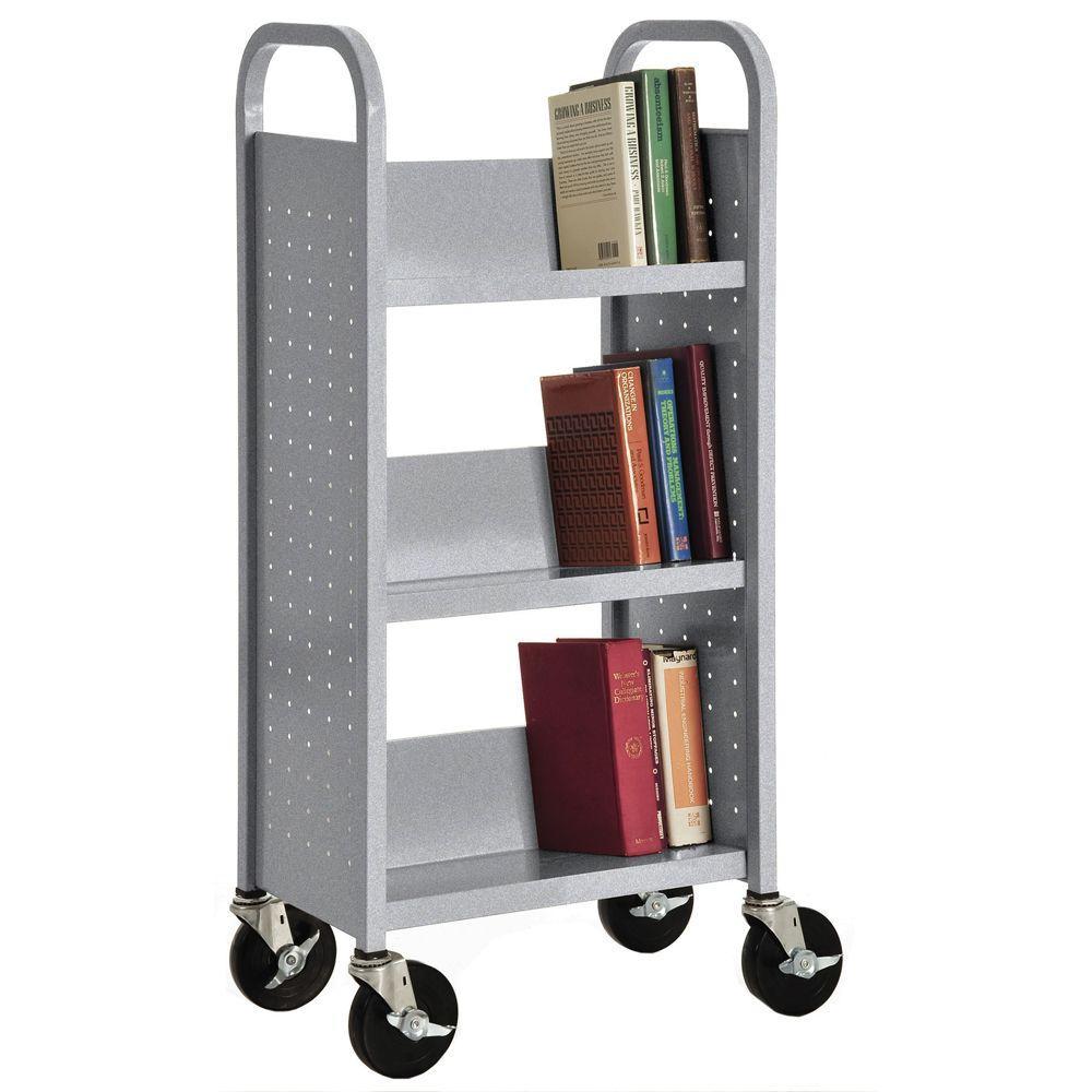 Multi-Granite Mobile Steel Bookcase